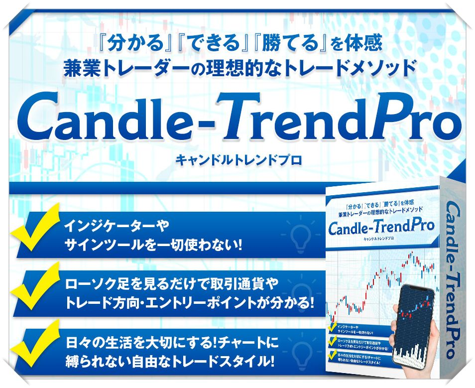 『Candle-Trend PRO』ついに公開!  インジケーター・電子書籍